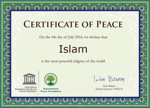 Certificate of Peace by Junta Ka Reporter