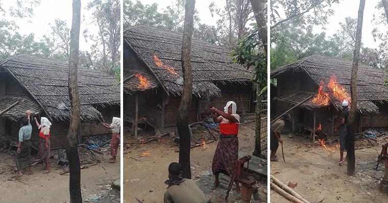 ছবি গুজব: মিয়ানমারের মংদুতে নিজ ঘরে আগুন দিচ্ছে 'রোহিঙ্গা বাঙ্গালিরা'?