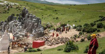 তিব্বতিদের সৎকার পদ্ধতি: 'ঝাতোর' বা স্কাই ব্যারিয়াল