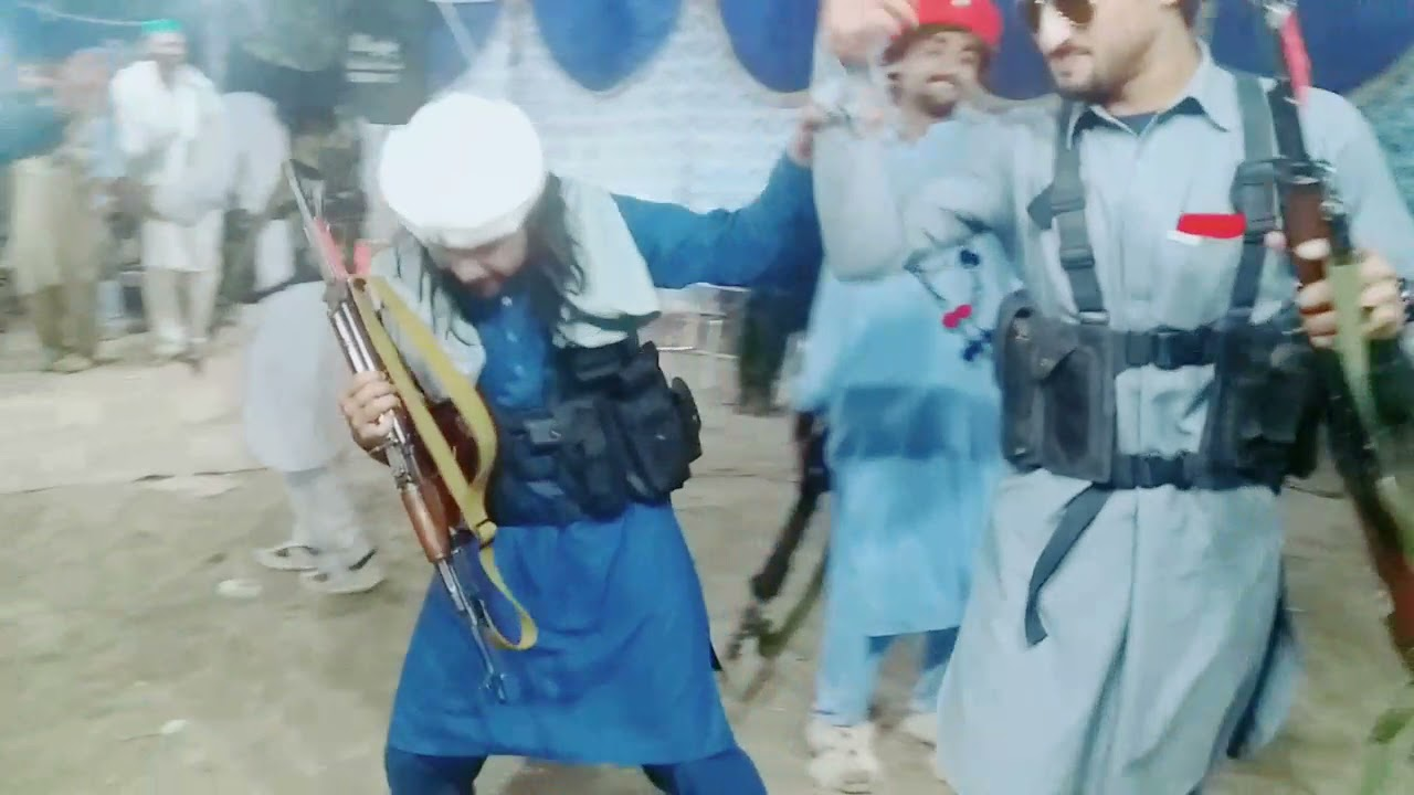 Miscaptioned photo. Taliban Dance after Kabul.